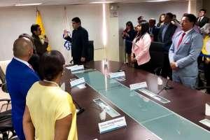 QUITO, Ecuador.- José Carlos Tuárez fue electo presidente del organismo; Rosa Chalá como vicepresidenta. Foto: CPCCS