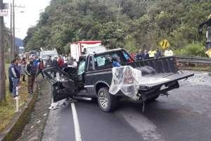 MERA, Pastaza.- Dos de los heridos fueron trasladados a un hospital de Puyo. Foto: ECU911 Ambato
