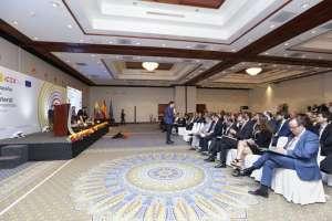 En el evento Partenariado Multilateral participan 61 empresas ecuatorianas y 21 españolas. Foto: Vicepresidencia