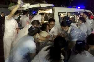 La agencia noticiosa Xinhua informó que ya se realizan labores de rescate en la zona afectada. Foto: AP
