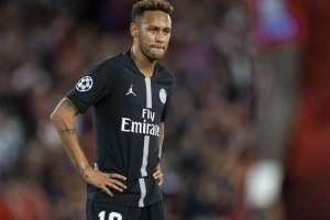 Neymar en un partido del PSG.