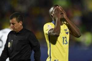 Enner Valencia, en una derrota ecuatoriana.