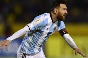 Messi en un partido con Argentina.