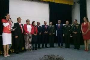 Lucía Vallecilla en el acto de juramento a su nuevo cargo.