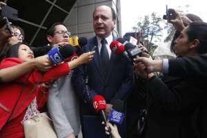 QUITO, Ecuador.- El nombre del exfiscal general fue incorporado en el registro del caso 'Arroz verde'. Foto: API