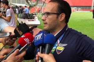 Francisco Egas, presidente de la Federación Ecuatoriana de Fútbol.