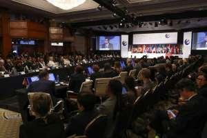 Banco mencionó las proyecciones al cierre de la reunión de gobernadores en Guayaquil. Foto: Flickr Presidencia