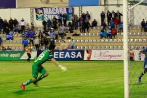 Gol de Macará ante Guayaquil City. Foto: Twitter Macará.