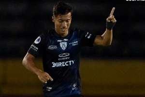 Alan Franco festeja su gol. Foto: Twitter Conmebol Sudamericana.
