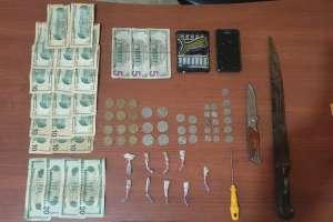 En poder del hombre se encontraron 9 paquetes con heroína. Foto: Cortesía