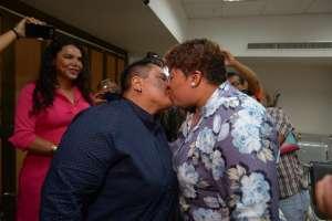 Michel Avilés y Alexandra Chávez contrajeron matrimonio este 18 de julio. Foto: API