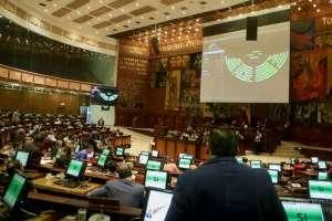 QUITO.- La decisión se tomó con el voto afirmativo de 89 legisladores. Foto: Asamblea Nacional