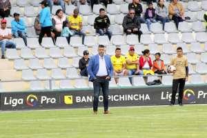 El entrenador de Barcelona no puso excusas tras la derrota 5-1 ante Mushuc Runa. Foto: API