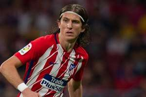 Filipe Luis con la camiseta del Atlético de Madrid.
