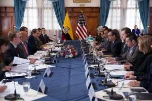 QUITO, Ecuador.- Ambos países mantendrán una segunda reunión a inicios de 2020 en Washington. Foto: Cancillería