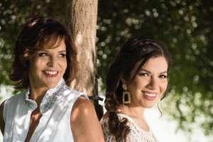Ana Cecilia Alvarado, ejecutiva de Ecuavisa, y Samantha Grey, actriz. Foto: Chantal Fontaine