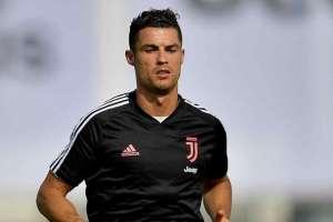 Cristiano Ronaldo en una práctica con la Juve. Foto: Twitter Juventus.