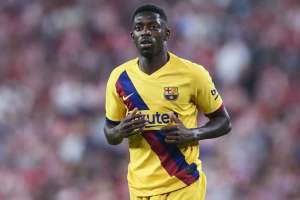 Ousmane Dembélé estará cinco semanas fuera.