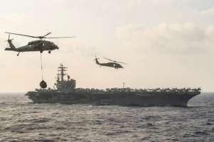 Trump intensificó las sanciones contra Venezuela este mes. Foto: US Navy