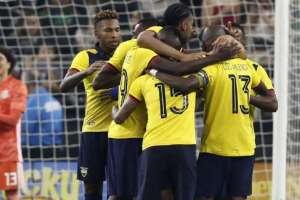 Jugadores de la selección ecuatoriana.