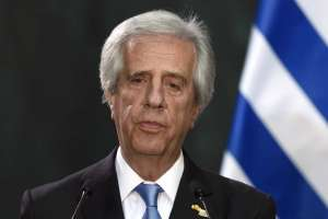 """URUGUAY.- """"Se confirmó la presencia de un tumor maligno"""", informó el médico de Tabaré Vázquez. Foto: AFP"""