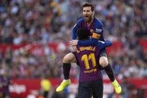 El argentino lideró la remontada del 'Barca' sobre el Sevilla. Foto: JORGE GUERRERO / AFP