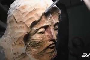 Julio Jimbo creó la imagen del Cristo del Consuelo