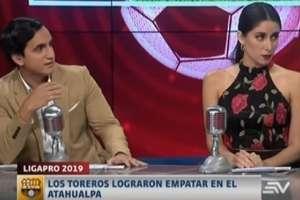 Kevin Verdezoto y Gabriela Alcívar durante el programa.