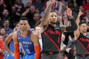 Ambos jugadores estrellas de la NBA.