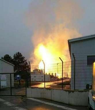 Explosión de terminal de gas en Austria / Fotos: AFP
