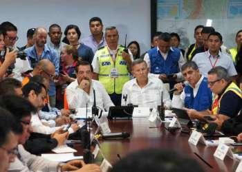 Coe provincial entregó reporte sobre simulacro y sismo real registrado en Guayaquil. Foto: Redacción