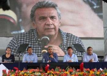 BABAHOYO, Ecuador.-Según los datos oficiales, desde 2017 se han entregado $267 millones en créditos para agricultores. Foto: Twitter Presidencia.