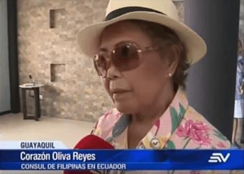 La joven permanecerá bajo protección del Consulado de Filipinas ubicado en Guayaquil.