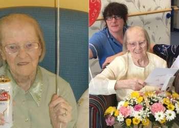 Eileen Maher atribuye su longevidad a un traguito diario y galletas rellenas de crema.
