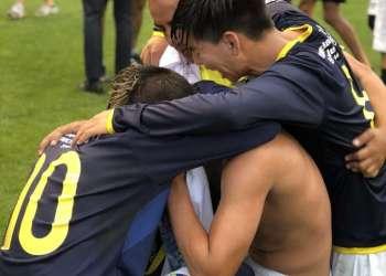 CHICAGO, EE.UU.- Los seleccionados ecuatorianos celebran su triunfo.