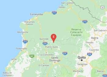 Sismo de magnitud:4.97 en Esmeraldas. Foto: IG