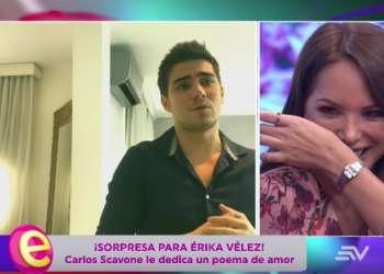 El poema de Carlos Scavone para Érika Vélez