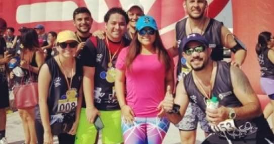 Varios talentos del canal participaron de una mañana deportiva. Foto: Instagram Merlyn Ochoa