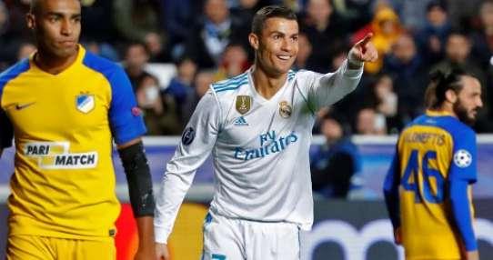 Cristiano Ronaldo anotó dos de los goles del equipo 'merengue'. Foto: AFP