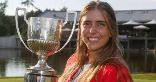 Celia Barquín logró el mayor triunfo de su corta carrera hace dos meses con el Campeonato Europeo Aficionado.