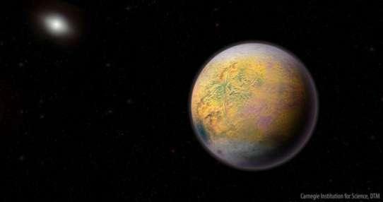 """""""El Duende"""" es como un pequeño indicador de la presencia del hipotético """"Planeta X"""". Ilustración: Roberto Molar Candanosa"""