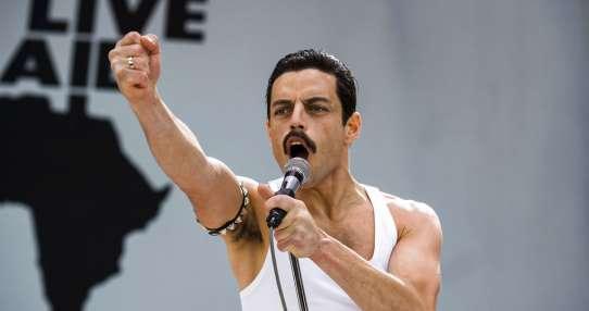 Malek encarna a Freddie Mercury, el vocalista de la banda Queen. Foto: AP.