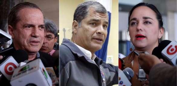 """ECUADOR.- La secretaria ejecutiva de PAIS descartó que el motivo del viaje sea una """"mediación"""". Collage: Ecuavisa"""