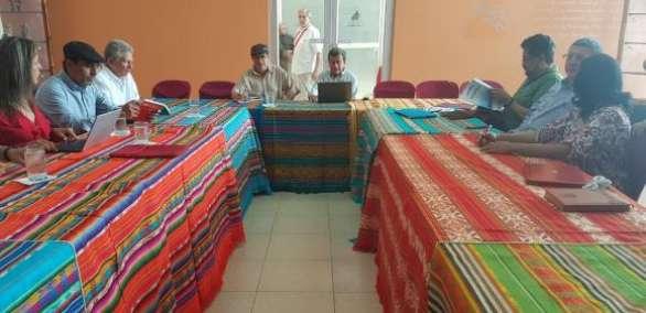 El encuentro entre el ELN y FARC se desarrolló en el centro cívico Ciudad Alfaro, en Manta. Foto: FARC