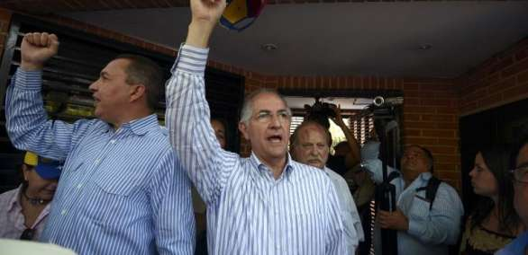 Antonio Ledezma, partió deVenezuelael 17 de noviembre hacia Colombia, desde donde viajó a España.  Foto: AFP