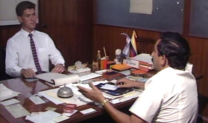 Pedro Jiménez durante una cobertura en la decada de los 80. Foto: Archivo