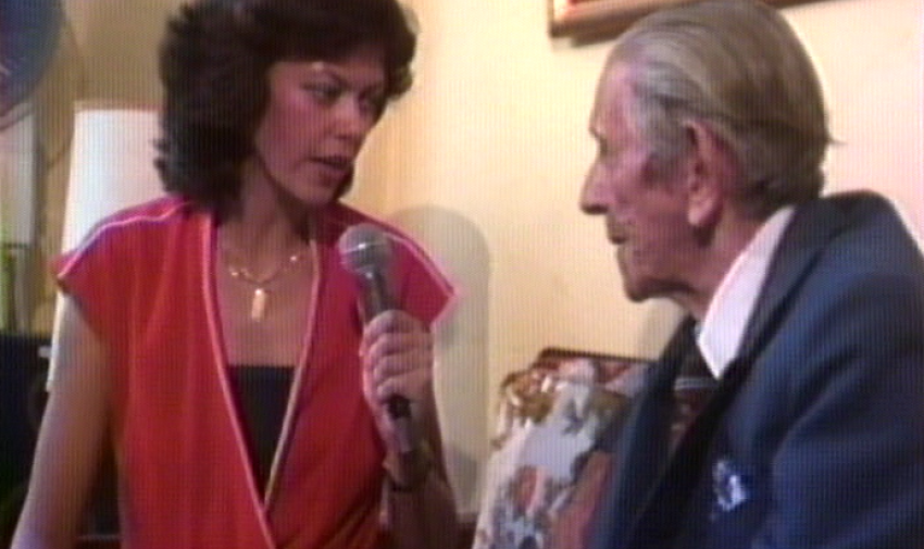 María Isabel de Lebed durante uno de sus reportajes. Foto: Archivo