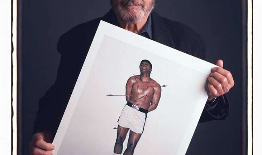 Carl Fischer  Muhammad Ali, representado como el mártir San Sebastián. Nueva York, 1967.