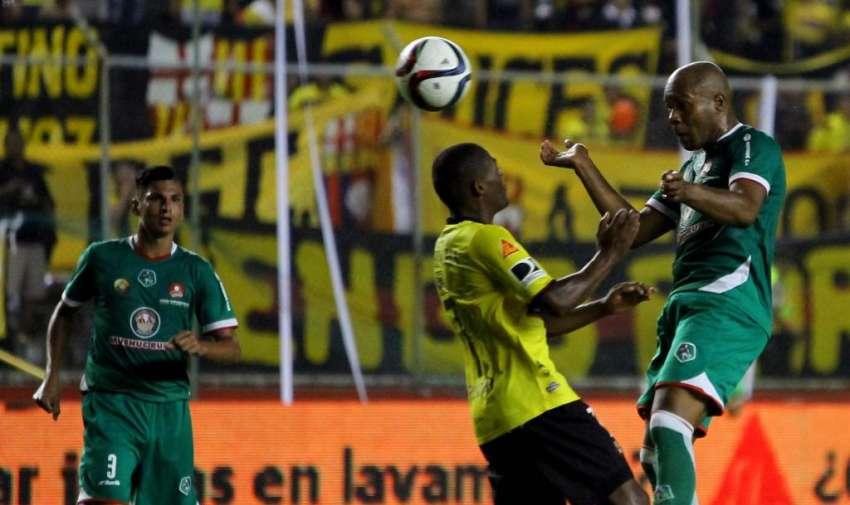 Durante el partido Barcelona - Mushuc - runa. Foto: API