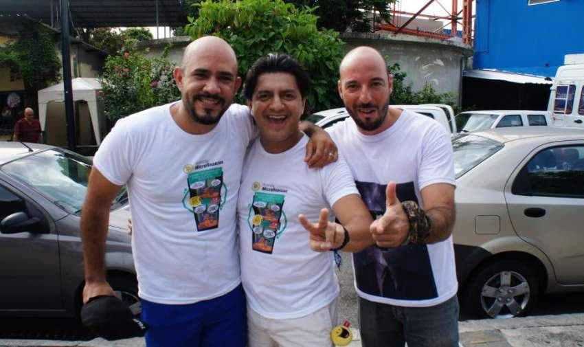 El actor Martín Calle, también fue parte de la caminata por la salud organizada por el canal. Foto: Ecuavisa